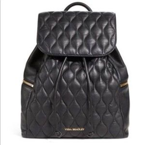 New Leather Quilted Mini Backpack